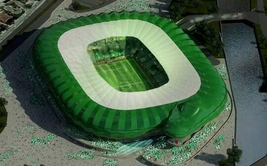 Clube turco vai inaugurar estádio em formato de crocodilo este ano. Veja fotos - Futebol - iG