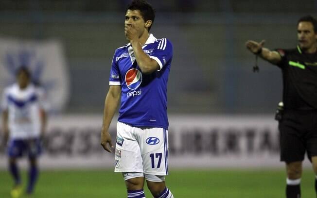 Fredy Montero lamenta chance desperdiçada  pelo Millonarios contra o San Jose