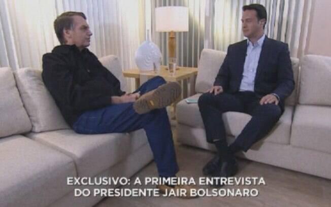Entrevista com Bolsonaro na Record quebra recorde de audiência