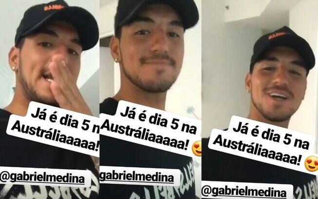 Gabriel Medina apareceu escutando novo álbum de Anitta