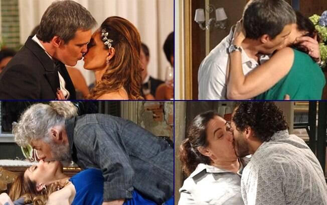 Os beijos de Tereza Cristina e Griselda em