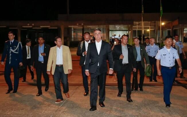 A equipe do presidente Jair Bolsonaro embarcou para o Fórum Econômico Mundial, em Davos, onde foram apresentadas as perspectivas do FMI para a economia brasileira