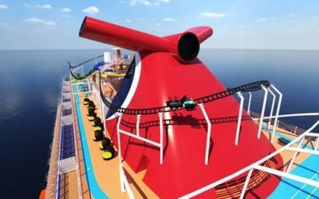 A empresa norte-americana é a primeira no mundo a criar um navio de cruzeiro com uma montanha-russa; veja detalhes