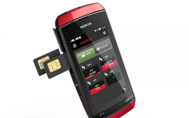 Novo celular da Nokia com Symbian possui tela sensível ao toque de 3 polegadas e suporte a dois chips