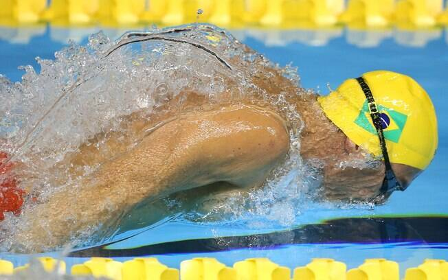 Kaio Márcio está na final dos 200m borboleta. Foto: Satiro Sodre/SSPress