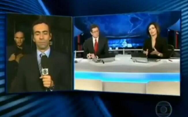 Antes de se tornar apresentador do 'SPTV', César Tralli já foi surpreendido por um fã, que invadiu seus links ao vivo por, ao menos, três vezes