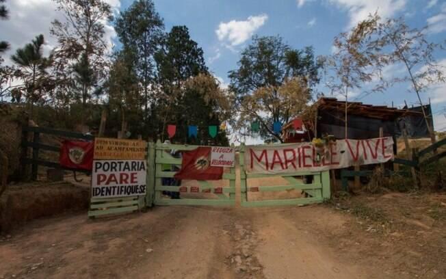 Protesto foi realizado por ocupação do MST na cidade de Valinhos, interior de São Paulo