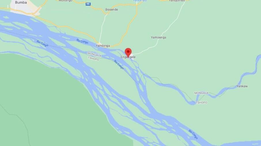 Acidente ocorreu próximo à aldeia de Engengele, localizada a 24 km da capital provincial de Bumba