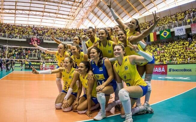Meninas do Brasil venceram as norte-americanas em Cuiabá