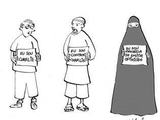 Thalma é um dos cartunistas que expôs na Aliança em 1977 e retorna