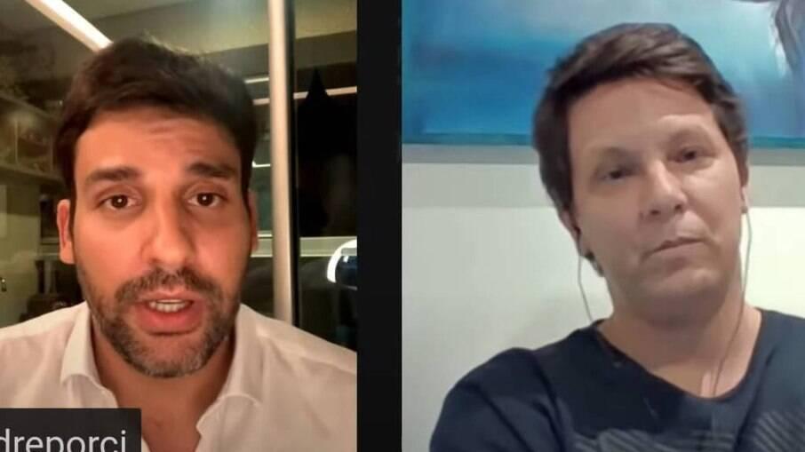 Secretário de fomento, André Porciúncula e Secretário Especial da Cultura, Mario Frias
