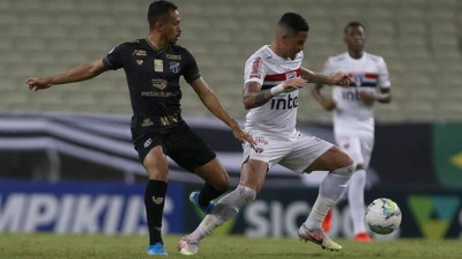 São Paulo e Ceará se enfrentam pelo Brasileirão nesta quinta-feira