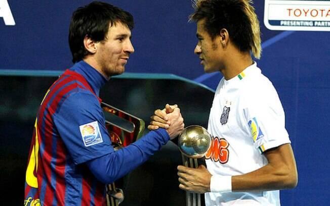 Messi e Neymar se encontraram em dezembro de  2011