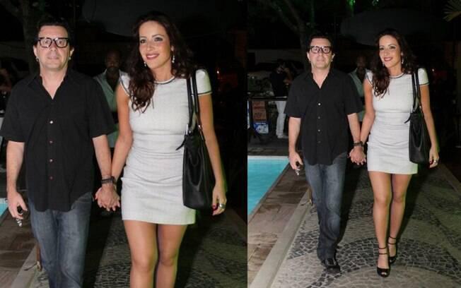 Renata Domínguez e o marido, Edson Spinello