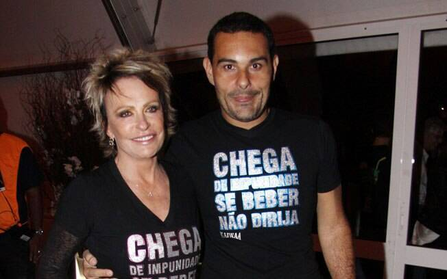 Ana Maria Braga e Marcelo Frisoni
