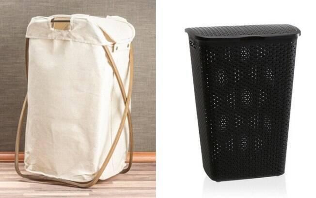 O cesto pode ser usado para guardas as roupas sujas e evitar que as peças fiquem jogadas e espalhadas pelo chão