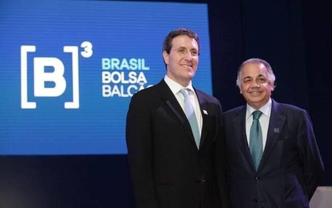 Gilson Finkelsztain e Edemir Pinto, líderes da Cetip e da Bovespa, empresas que deram origem a B3