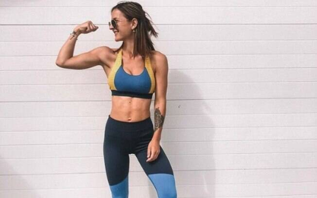 A rotina de Nicole antes, durante e após a gravidez foi muito regrada e ela sempre buscou se exercitar para manter a barriga