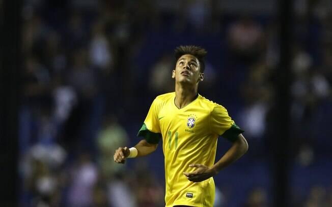 Neymar durante o jogo contra a Argentina