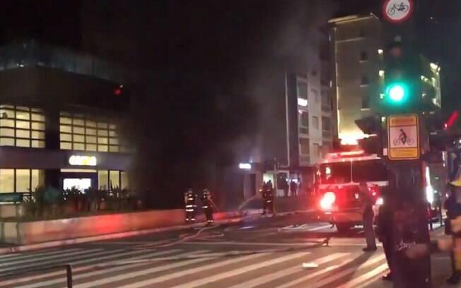 incêndio avenida paulista estação brigadeiro