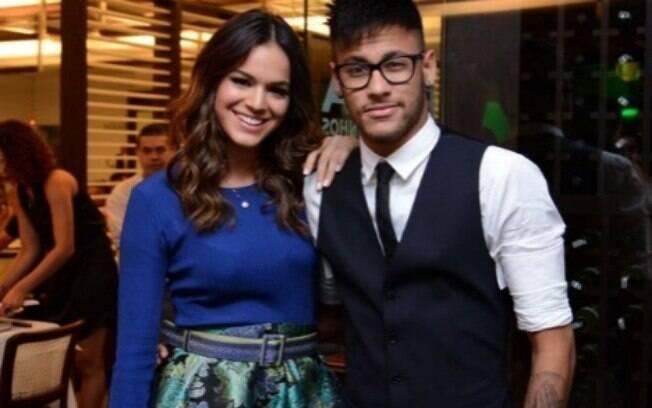 Bruna Marquezine e Neymar no início do namoro