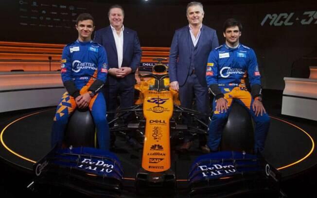 McLaren em 2019 tem Lando Norris e Carlos Sainz como pilotos