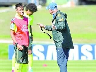 Bom teste. Neymar e Felipão vão encarar a Sérvia e o exigente público paulista no amistoso desta tarde no Morumbi