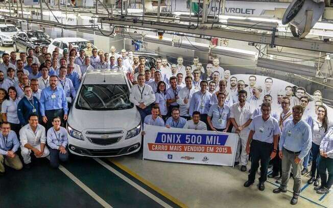 Chevrolet Onix chega a 500 mil unidades produzidas em Gravataí (SP).