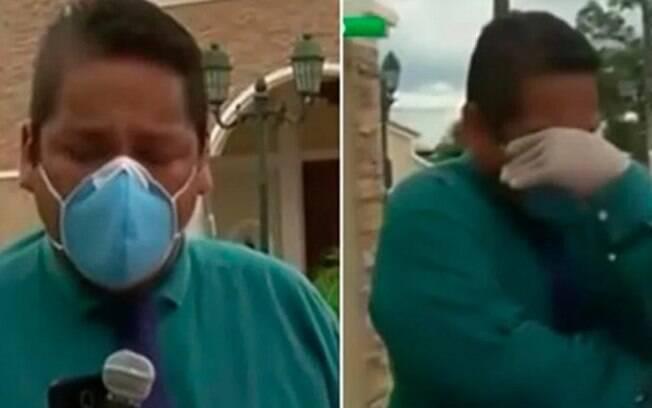 Repórter do Equador chorou ao vivo