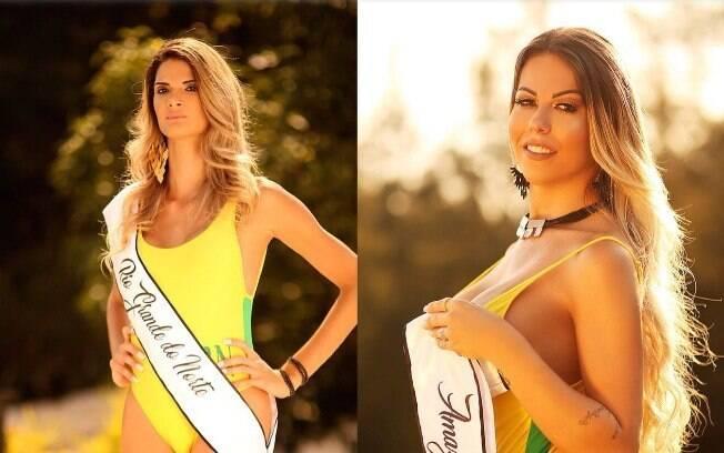 Giovanna Spinella e Paula Oliveira, mulheres transgêneros que participantes do Miss Bumbum 2018