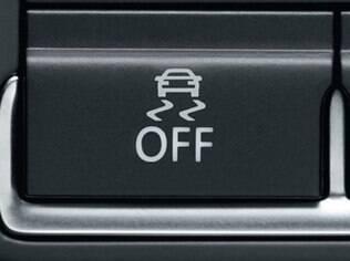 Botão do controle eletrônico de estabilidade