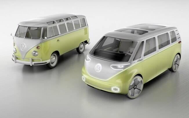 Volkswagen I. D. Buzz Concept servirá de base para a nova VW Kombi que chegará ao mercado por volta de 2020