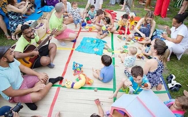 Pool party infantil: Sheron e Maíra proporcionaram ambientes para pais e crianças brincarem e aproveitarem a festa juntos