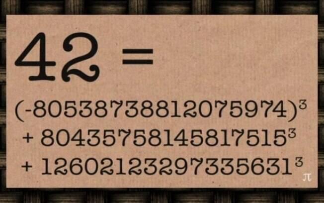 Soma de três cubos cujo resultado é 42