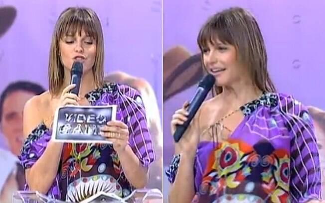 Fernanda Lima no comando do 'Vídeo Game', em 2005