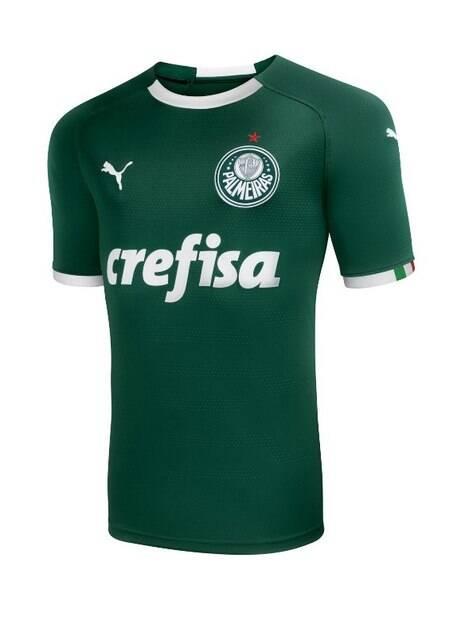 Nova camisa verde do Palmeiras, produzida pela Puma