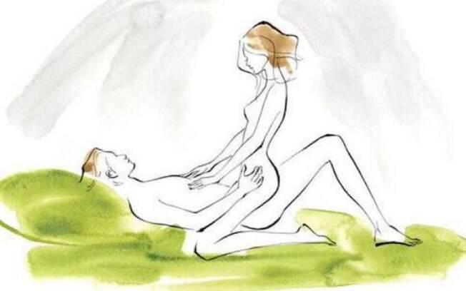 Na posição cowgirl é possível a troca de olhares