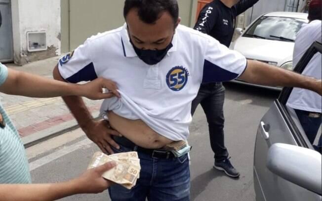 Miguel Amorim, irmão do prefeito Naumi Amorim (PSD), que concorre à reeleição em Caucaia (CE)