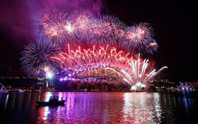 Na Austrália, a festa de fogos deu um show – e a polícia do país fez segurança reforçada contra qualquer risco de terrorismo