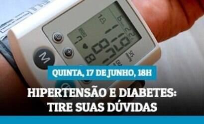 Live do iG desta quinta trata de diabetes e hipertensão