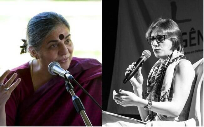 A indiana Vandana Shiva (esq) e a brasileira Daniela Rosendo são importantes militantes do ecofeminismo