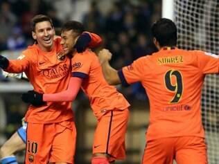 Com os dois gols, Messi ultrapassou Cristiano Ronaldo na artilharia do Espanhol
