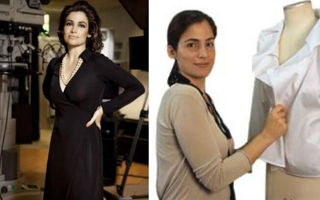 A jornalista Renata Vasconcellos e sua irmã gêmea Lanza Mazza