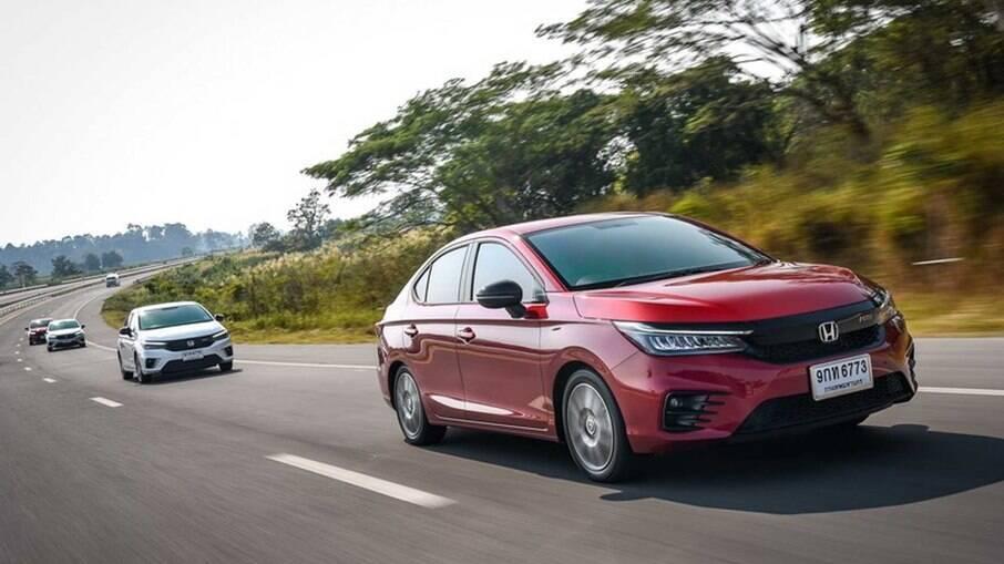Nova geração do Honda City já é vendida na Tailândia. Modelo deve chegar em breve ao nosso mercado