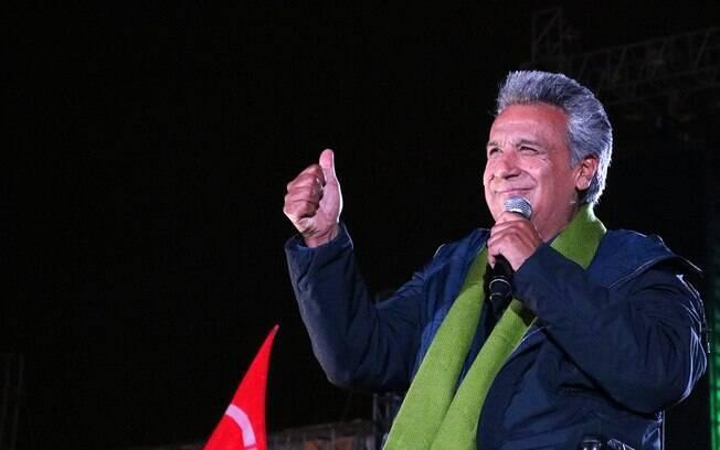 Candidato governista, Lenín Moreno venceu o primeiro turno da eleição no Equador, com 39,36% dos votos
