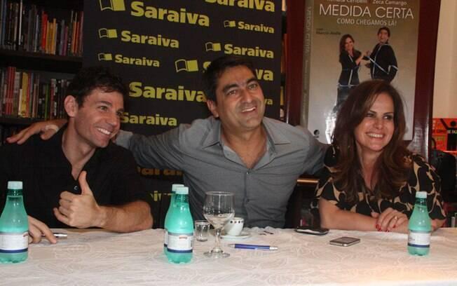 Márcio Atalla, Zeca Camargo e Renata Ceribelli