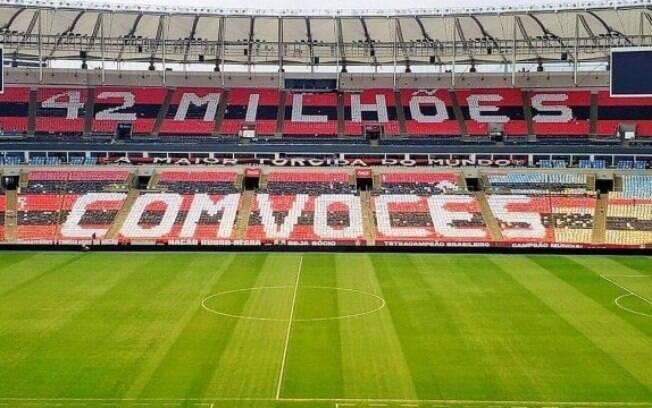 Mosaico da torcida do Flamengo