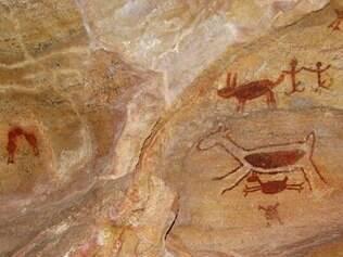 As duas pinturas mais famosas da Serra da Capivara: