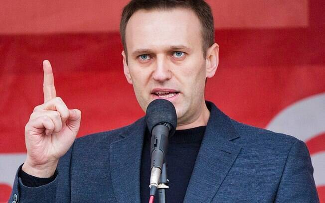 Navalny passou mal em avião