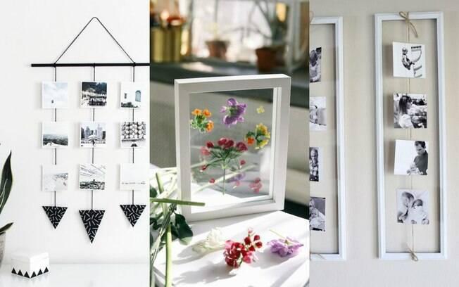 Presente de Dia das Mães pode ser um quadro personalizado por você mesma, com fotos ou até mesmo flores